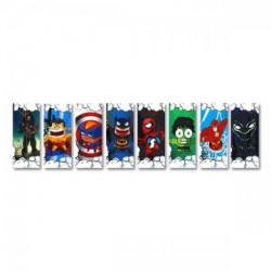 5x Wraps pour accus 18650 / Super Heroes Series