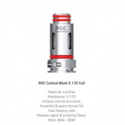 5x Résistances RPM80 RGC Coil / Smoktech