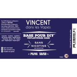 Base 125 ml Sans Nicotine / VDLV