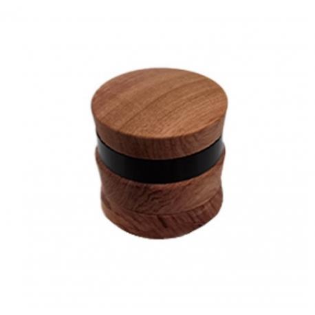 Grinder 67mm 4 Parts Convex Black Silver Wooden